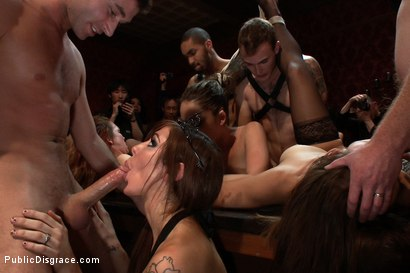 Photo number 10 from Princess Donna's Birthday Bash Part 2!!!! shot for Public Disgrace on Kink.com. Featuring Remy LaCroix and James Deen in hardcore BDSM & Fetish porn.