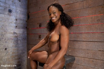 Photo number 1 from Kelli Provocateur - Ebony Body Builder - Mercilessly Dominated shot for Hogtied on Kink.com. Featuring Kelli Provocateur in hardcore BDSM & Fetish porn.
