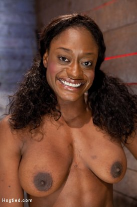Photo number 2 from Kelli Provocateur - Ebony Body Builder - Mercilessly Dominated shot for Hogtied on Kink.com. Featuring Kelli Provocateur in hardcore BDSM & Fetish porn.
