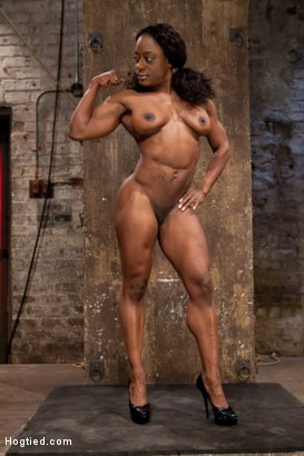 Photo number 3 from Kelli Provocateur - Ebony Body Builder - Mercilessly Dominated shot for Hogtied on Kink.com. Featuring Kelli Provocateur in hardcore BDSM & Fetish porn.