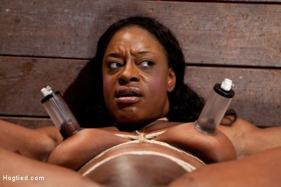Photo number 10 from Kelli Provocateur - Ebony Body Builder - Mercilessly Dominated shot for Hogtied on Kink.com. Featuring Kelli Provocateur in hardcore BDSM & Fetish porn.