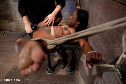 Photo number 8 from Kelli Provocateur - Ebony Body Builder - Mercilessly Dominated shot for Hogtied on Kink.com. Featuring Kelli Provocateur in hardcore BDSM & Fetish porn.