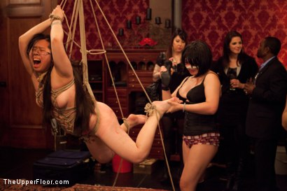 Photo number 2 from Slave Birthday Party Part 1 shot for The Upper Floor on Kink.com. Featuring Sparky Sin Claire, Mark Davis, Krysta Kaos, Skin Diamond and Isis Love in hardcore BDSM & Fetish porn.