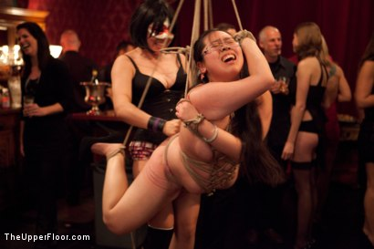 Photo number 15 from Slave Birthday Party Part 1 shot for The Upper Floor on Kink.com. Featuring Sparky Sin Claire, Mark Davis, Krysta Kaos, Skin Diamond and Isis Love in hardcore BDSM & Fetish porn.