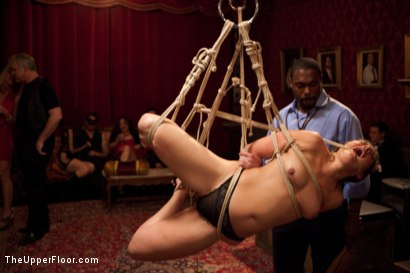 Photo number 3 from Slave Birthday Party Part 1 shot for The Upper Floor on Kink.com. Featuring Sparky Sin Claire, Mark Davis, Krysta Kaos, Skin Diamond and Isis Love in hardcore BDSM & Fetish porn.