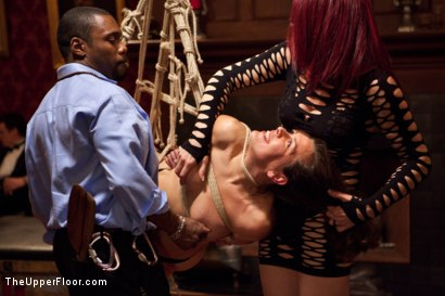 Photo number 7 from Slave Birthday Party Part 1 shot for The Upper Floor on Kink.com. Featuring Sparky Sin Claire, Mark Davis, Krysta Kaos, Skin Diamond and Isis Love in hardcore BDSM & Fetish porn.