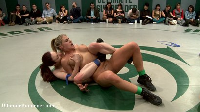 Photo number 11 from RD 1/4 of March's Live Tag Team Match: Totally non-scripted collegian style sexual lesbian wresting! shot for Ultimate Surrender on Kink.com. Featuring Beretta James, Charisma Cappelli, Iona Grace, Princess Donna Dolore and Shae Simone in hardcore BDSM & Fetish porn.