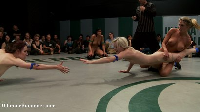 Photo number 12 from RD 2 of March's Live Tag Team Match: Totally non-scripted collegian style sexual lesbian wresting! shot for Ultimate Surrender on Kink.com. Featuring Beretta James, Charisma Cappelli, Iona Grace, Princess Donna Dolore and Shae Simone in hardcore BDSM & Fetish porn.