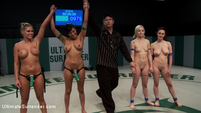 Photo number 1 from 5 girl squirt fest! Losers get dominated by the winners AND the ref!!! shot for Ultimate Surrender on Kink.com. Featuring Beretta James, Charisma Cappelli, Iona Grace, Princess Donna Dolore and Shae Simone in hardcore BDSM & Fetish porn.