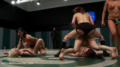 Photo number 14 from 5 girl squirt fest! Losers get dominated by the winners AND the ref!!! shot for Ultimate Surrender on Kink.com. Featuring Beretta James, Charisma Cappelli, Iona Grace, Princess Donna Dolore and Shae Simone in hardcore BDSM & Fetish porn.