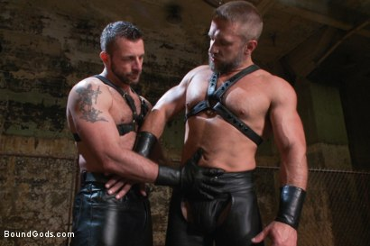 Photo number 1 from Men On The Prowl shot for Bound Gods on Kink.com. Featuring Dirk Caber and Morgan Black in hardcore BDSM & Fetish porn.