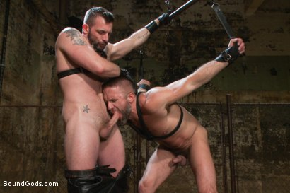 Photo number 3 from Men On The Prowl shot for Bound Gods on Kink.com. Featuring Dirk Caber and Morgan Black in hardcore BDSM & Fetish porn.