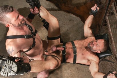 Photo number 13 from Men On The Prowl shot for Bound Gods on Kink.com. Featuring Dirk Caber and Morgan Black in hardcore BDSM & Fetish porn.