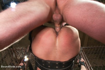 Photo number 12 from Men On The Prowl shot for Bound Gods on Kink.com. Featuring Dirk Caber and Morgan Black in hardcore BDSM & Fetish porn.