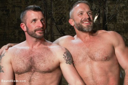 Photo number 15 from Men On The Prowl shot for Bound Gods on Kink.com. Featuring Dirk Caber and Morgan Black in hardcore BDSM & Fetish porn.