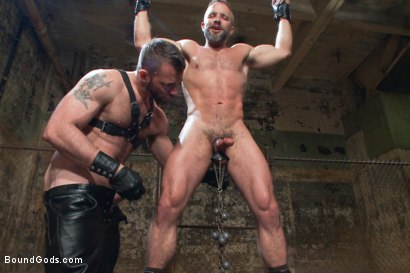 Photo number 5 from Men On The Prowl shot for Bound Gods on Kink.com. Featuring Dirk Caber and Morgan Black in hardcore BDSM & Fetish porn.