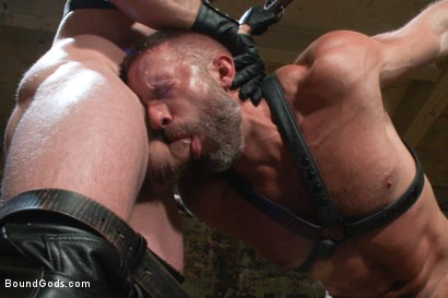 Photo number 4 from Men On The Prowl shot for Bound Gods on Kink.com. Featuring Dirk Caber and Morgan Black in hardcore BDSM & Fetish porn.