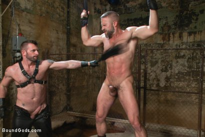 Photo number 7 from Men On The Prowl shot for Bound Gods on Kink.com. Featuring Dirk Caber and Morgan Black in hardcore BDSM & Fetish porn.