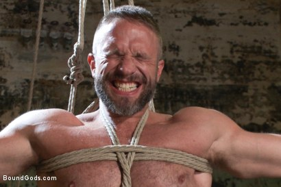 Photo number 8 from Men On The Prowl shot for Bound Gods on Kink.com. Featuring Dirk Caber and Morgan Black in hardcore BDSM & Fetish porn.