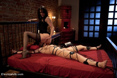 Photo number 6 from Fiery Redhead Brooklyn is back for Electro Lezdom BDSM! shot for Electro Sluts on Kink.com. Featuring Brooklyn Lee and Bobbi Starr in hardcore BDSM & Fetish porn.