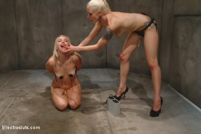 Photo number 11 from Electro Strap-on and Mental Bondage! shot for Electro Sluts on Kink.com. Featuring Ashley Fires and Lorelei Lee in hardcore BDSM & Fetish porn.