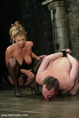 Photo number 6 from Miss Brooke and Andy Mann shot for Men In Pain on Kink.com. Featuring Brooke Banner and Andy Mann in hardcore BDSM & Fetish porn.