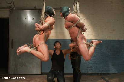 Photo number 7 from Most challenging suspensions in the history of Bound Gods - Live Shoot shot for Bound Gods on Kink.com. Featuring Derek Pain, Master Avery, Jessie Colter and Van Darkholme in hardcore BDSM & Fetish porn.