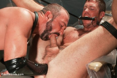 Photo number 5 from A brand new stud, bondage, enema and double fisting virgin. shot for Bound Gods on Kink.com. Featuring Josh West and Tanner Wayne in hardcore BDSM & Fetish porn.