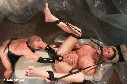 Photo number 6 from A brand new stud, bondage, enema and double fisting virgin. shot for Bound Gods on Kink.com. Featuring Josh West and Tanner Wayne in hardcore BDSM & Fetish porn.