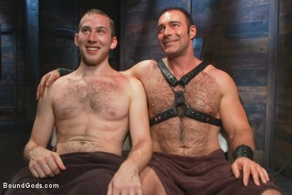 Photo number 15 from Please tase my 19 year old ass while you cum, Sir! shot for Bound Gods on Kink.com. Featuring Brad Kalvo and     Cody Allen in hardcore BDSM & Fetish porn.