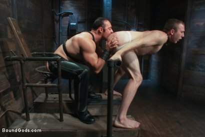 Photo number 6 from Please tase my 19 year old ass while you cum, Sir! shot for Bound Gods on Kink.com. Featuring Brad Kalvo and Cody Allen in hardcore BDSM & Fetish porn.
