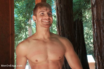Photo number 15 from Captured straight jock gets his tight ass violated in the deep woods shot for Men On Edge on Kink.com. Featuring Logan Vaughn in hardcore BDSM & Fetish porn.