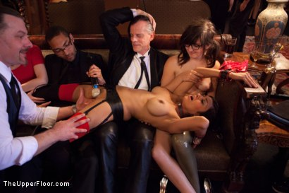 Photo number 16 from Stefanos' Brunch shot for The Upper Floor on Kink.com. Featuring Beretta James, Krysta Kaos and Maestro Stefanos in hardcore BDSM & Fetish porn.
