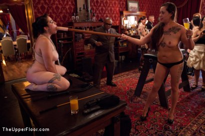 Photo number 19 from Stefanos' Brunch shot for The Upper Floor on Kink.com. Featuring Beretta James, Krysta Kaos and Maestro Stefanos in hardcore BDSM & Fetish porn.