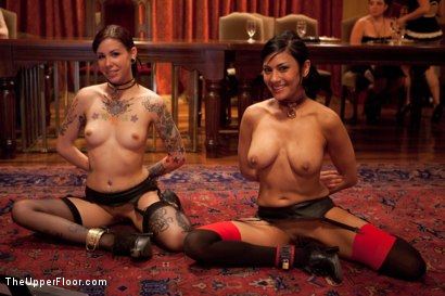 Photo number 3 from Stefanos' Brunch shot for The Upper Floor on Kink.com. Featuring Beretta James, Krysta Kaos and Maestro Stefanos in hardcore BDSM & Fetish porn.