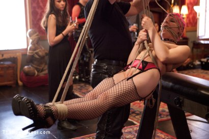 Photo number 23 from Stefanos' Brunch shot for The Upper Floor on Kink.com. Featuring Beretta James, Krysta Kaos and Maestro Stefanos in hardcore BDSM & Fetish porn.