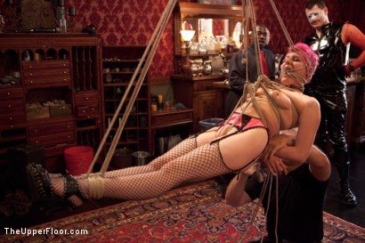 Photo number 26 from Stefanos' Brunch shot for The Upper Floor on Kink.com. Featuring Beretta James, Krysta Kaos and Maestro Stefanos in hardcore BDSM & Fetish porn.