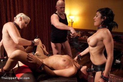 Photo number 12 from  Slave Initiation: chrome shot for The Upper Floor on Kink.com. Featuring Dylan Ryan, Lyla Storm, Beretta James and Mark Davis in hardcore BDSM & Fetish porn.