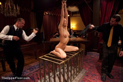 Photo number 2 from  Slave Initiation: chrome shot for The Upper Floor on Kink.com. Featuring Dylan Ryan, Lyla Storm, Beretta James and Mark Davis in hardcore BDSM & Fetish porn.