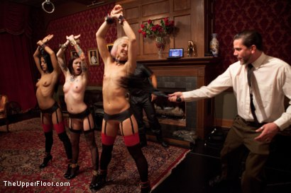 Photo number 3 from Uniform Party shot for The Upper Floor on Kink.com. Featuring Dylan Ryan, Derrick Pierce, Lyla Storm, Krysta Kaos, The Pope and Maestro Stefanos in hardcore BDSM & Fetish porn.