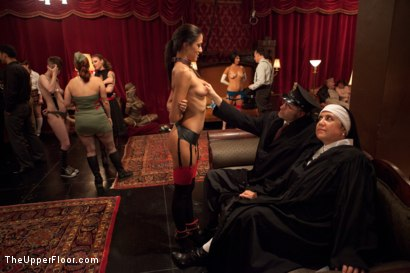 Photo number 7 from Uniform Party shot for The Upper Floor on Kink.com. Featuring Dylan Ryan, Derrick Pierce, Lyla Storm, Krysta Kaos, The Pope and Maestro Stefanos in hardcore BDSM & Fetish porn.