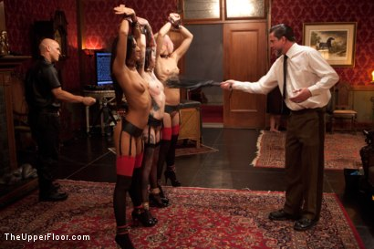 Photo number 2 from Uniform Party shot for The Upper Floor on Kink.com. Featuring Dylan Ryan, Derrick Pierce, Lyla Storm, Krysta Kaos, The Pope and Maestro Stefanos in hardcore BDSM & Fetish porn.
