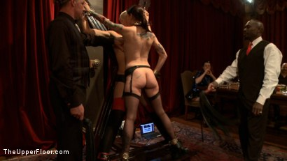 Photo number 4 from Community Dinner: Slave correction shot for The Upper Floor on Kink.com. Featuring Dylan Ryan, Krysta Kaos, Jack Hammer, The Pope and Maestro Stefanos in hardcore BDSM & Fetish porn.