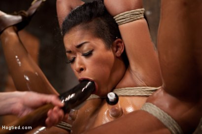 Photo number 9 from Hot and Tight Skin Diamond Pushed To The MAX At HogTied.com shot for Hogtied on Kink.com. Featuring Skin Diamond in hardcore BDSM & Fetish porn.