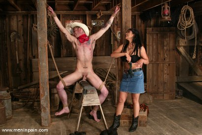 Photo number 5 from Mika Tan and Richie Rennt shot for Men In Pain on Kink.com. Featuring Mika Tan and Richie Rennt in hardcore BDSM & Fetish porn.