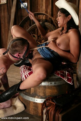 Photo number 7 from Mika Tan and Richie Rennt shot for Men In Pain on Kink.com. Featuring Mika Tan and Richie Rennt in hardcore BDSM & Fetish porn.