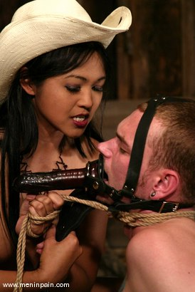 Photo number 10 from Mika Tan and Richie Rennt shot for Men In Pain on Kink.com. Featuring Mika Tan and Richie Rennt in hardcore BDSM & Fetish porn.