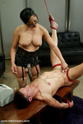 Photo number 6 from Mika Tan and Sebastian shot for Men In Pain on Kink.com. Featuring Mika Tan and Sebastian in hardcore BDSM & Fetish porn.