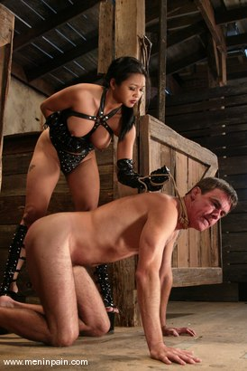 Photo number 2 from Mika Tan and Wild Bill shot for Men In Pain on Kink.com. Featuring Mika Tan and Wild Bill in hardcore BDSM & Fetish porn.