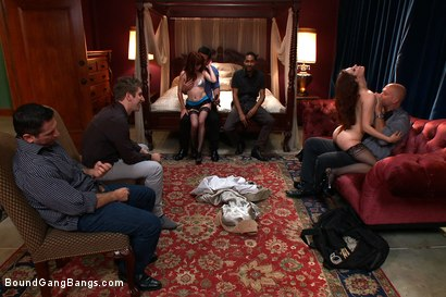 Photo number 14 from Hot Fiance Spies on her Grooms Bachelor Party and Gets Punished shot for Bound Gang Bangs on Kink.com. Featuring John Strong, Beretta James, Mickey Mod, Charlie Whitehorse, Mark Davis and Danny Wylde in hardcore BDSM & Fetish porn.